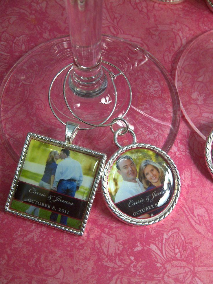 Personalized Wedding Wine Glass Charms : Wedding Favors Personalized Wine Glass Charms by jYOUlry on Etsy. USD3 ...