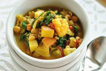 Soup Recipe: Vegetarian Split Pea Soup with Grilled Cheese Croutons ...