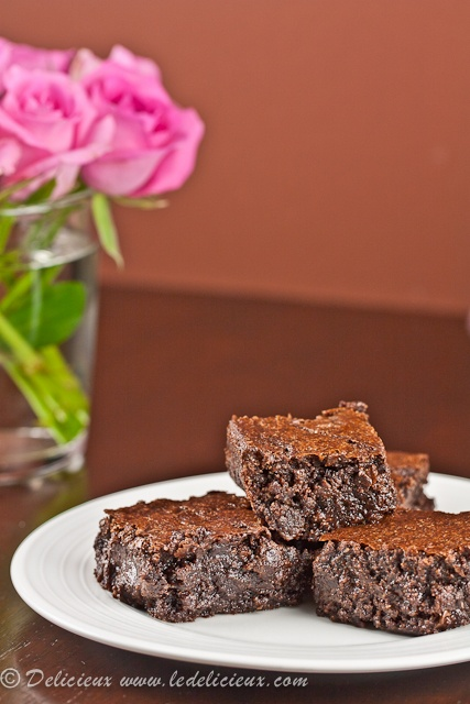Flourless chocolate brownies. | Recipes | Pinterest