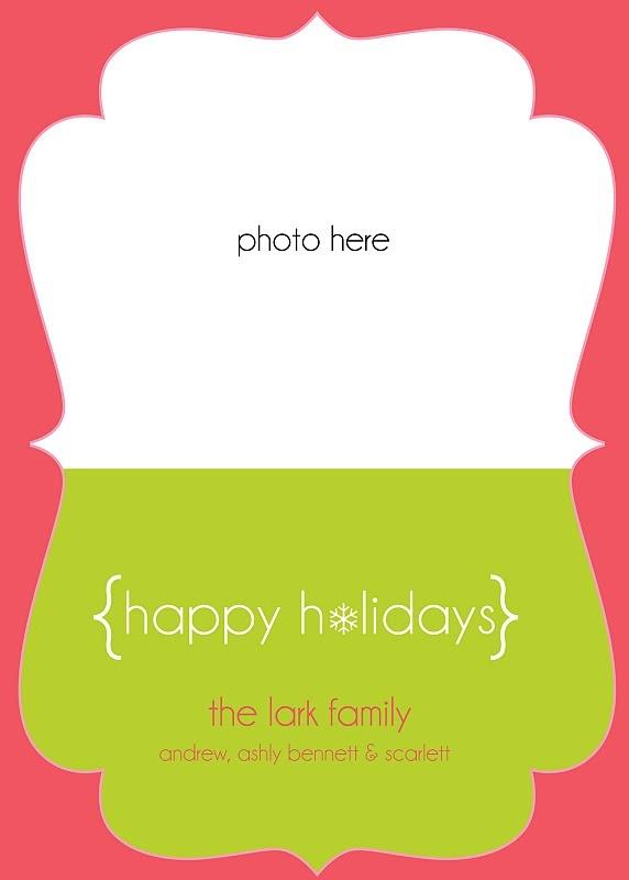 Happy Holidays card template   Christmas   Pinterest