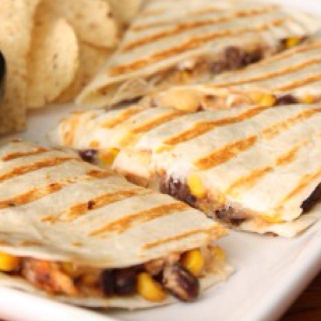 Chicken. Black bean and Corn Quesadilla | Favorite Recipes | Pinterest