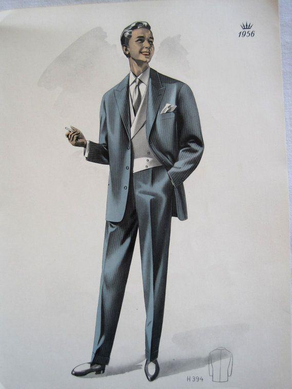 Vintage French Fabulous 1956 Men 39 S Fashion H394