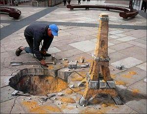 3D art with chalk