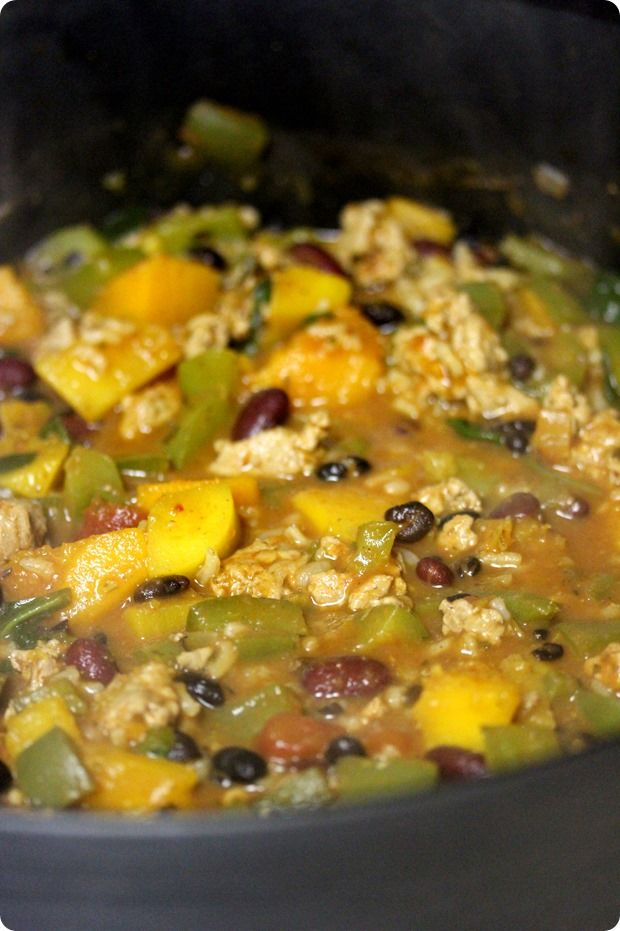 Butternut Squash & Turkey Chili - great for winter!
