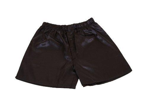 Men's Black Satin Boxers