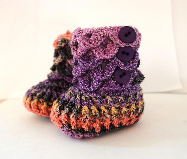 Free Crochet Pattern For Crocodile Stitch Booties Gallery Knitting