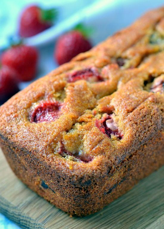 Strawberry & Rhubarb Polenta Cake (Vegan & Gluten-free) from @coconut...