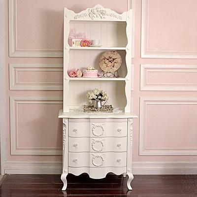 Shabby Cottage Chic White Bookcase Pinterest