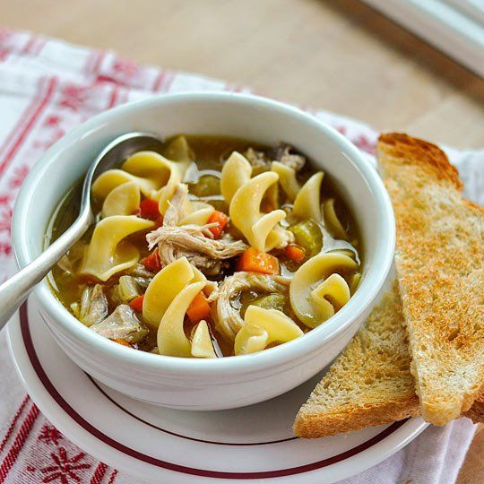 easy chicken noodle soup | Home remedies | Pinterest