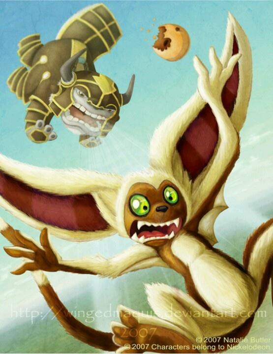 Avatar The Last Airbender Appa And Momo