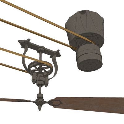 Pulley system ceiling fan for the home pinterest - Ceiling fan pulley system ...