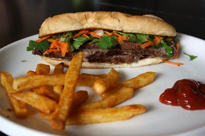 what's for dinner?: vietnamese steak sandwiches... 10 minutes