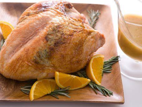 Rosemary-Maple Glazed Turkey Breast with Gravy | Recipe