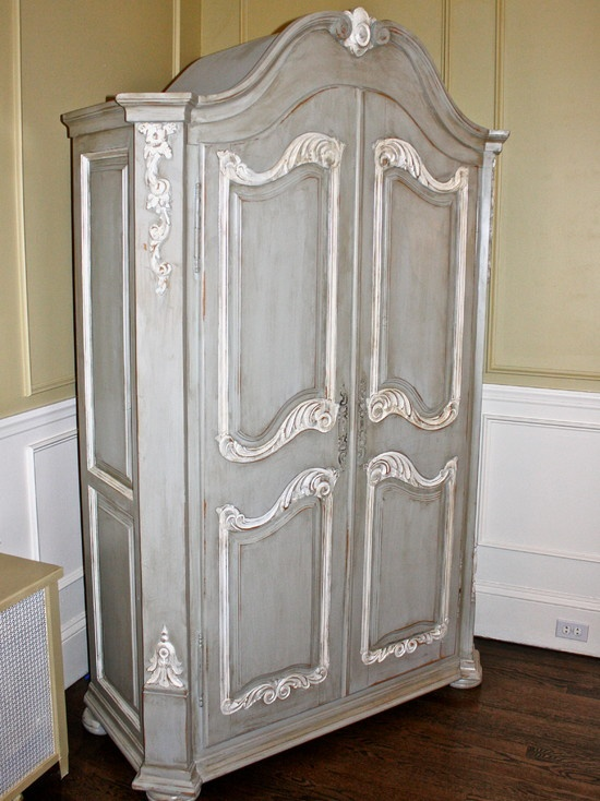 Innovative Wardrobe Makeover Into Computer Armoire  Thrifty Rebel Vintage