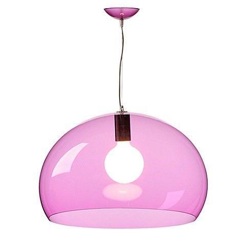 Lampadario Design FLY Kartell FL/Y Colore Rosso Cardinale Trasparente ...