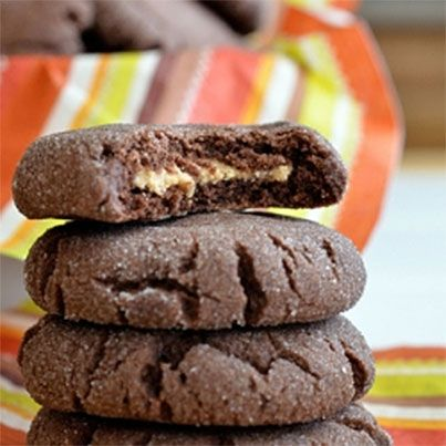 Chocolate Peanut Butter Surprise Cookies | Yums Yums | Pinterest