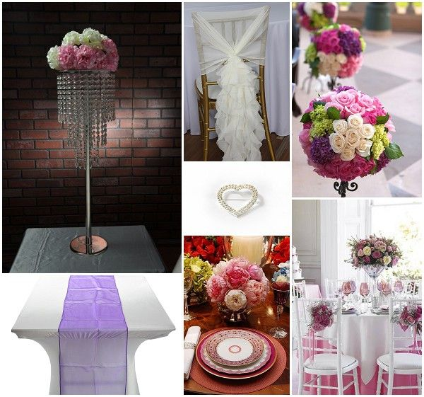 Wedding Decorations For Hire Pink And Purple Colour Scheme