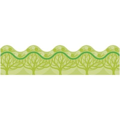 Items By Brand Name | Carson-Dellosa Publishing | Borders | Scalloped | Eco Trees Scalloped Border | Education Station, Inc. Unique Educational Supply