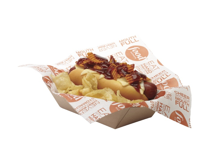 Baseball fans in St. Louis's Busch Stadium will be able to try the St. Louis Hot Dog, topped with Red Hot Riplets, Provel, and BBQ sauce from our new line of Food Network Stadium Fare!