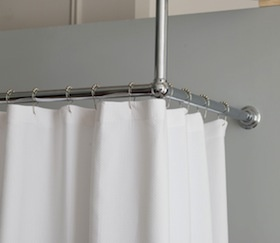 L Shaped Shower Curtain Rail B&Q Oval Shower Curtain Rail
