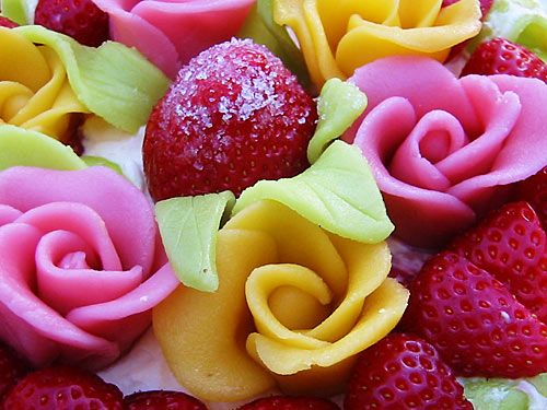 marzipan flowers ♪♫ | Marzipan | Pinterest