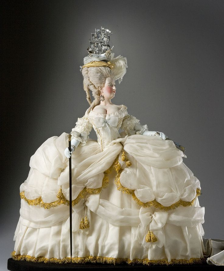 Full Length View of Marie Antoinette in mixed media, from the Museum of Ventura County collection.