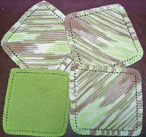 Free Crochet Pattern For Diagonal Dishcloth : Diagonal Knit Dishcloth Pattern Crochet Pinterest