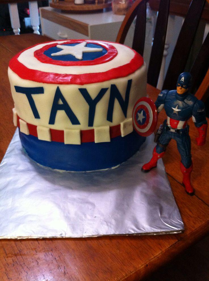 Captain America 5th birthday cake Cakes Pinterest