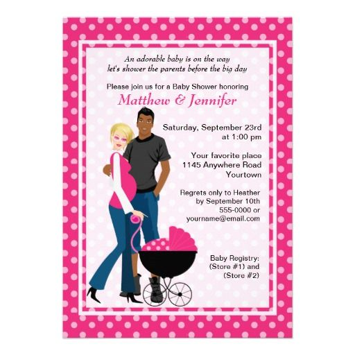 would be cute in blue couples baby shower invitation from