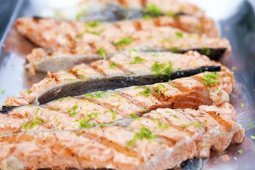 Grilled Salmon with Lime Butter Sauce by spachethespatula, via Flickr