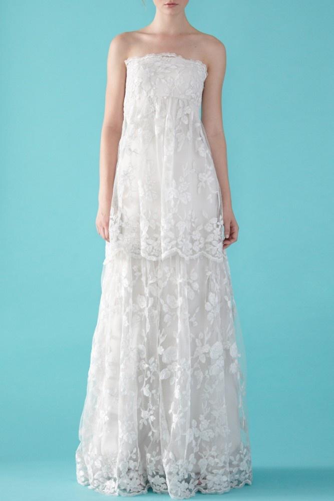 Lace empire waist wedding dress wedding bridal fashion for Empire lace wedding dress