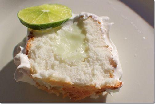 Lime filled cake - Sublime! A light angel food cake with a key lime ...