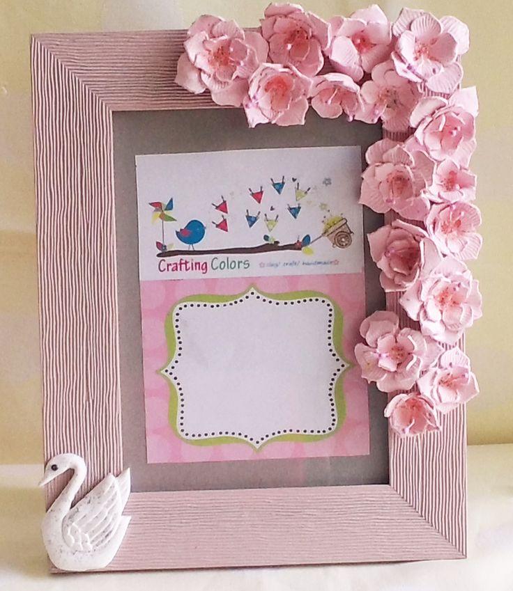 Handmade photo frame handmade frames and cards for Handmade wall frames ideas