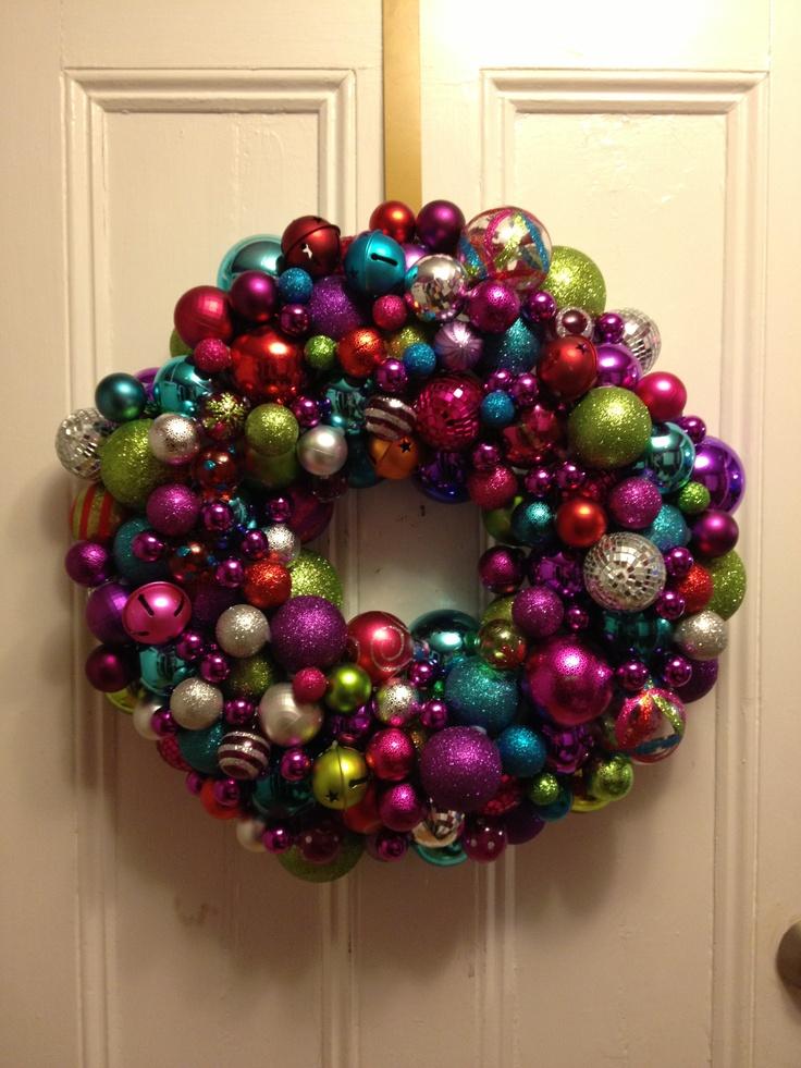 Ornament wreath christmas decorations pinterest for Pinterest christmas decorations