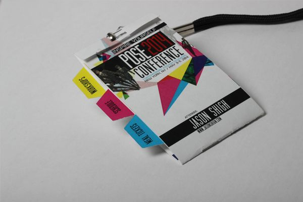 Ainil Fadzlina Afdzlina On Pinterest - Conference badge design template