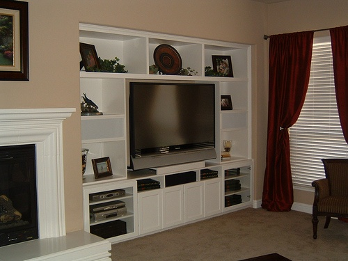 White Entertainment Center Apartment Pinterest
