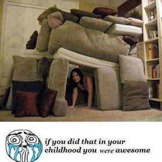 Modern Pillow Fort : pillow fort Blanket Forts Pinterest