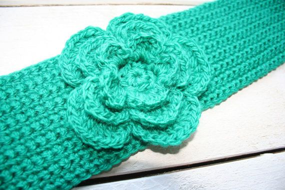 Crochet Flowers Patterns Headbands : Crochet Pattern Headband with Big Layered Flower, Easy