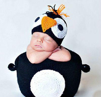 09M newborn baby boy girl Penguin Crochet knit by OhSooGirly   20 00Newborn Baby Penguin