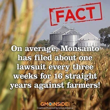 Since 1997 Monsanto hasn't lost a single case against a farmer. Keep in mind these farmers all didn't want GMO seeds, didn't want GMO plants and in turn couldn't sell those GMO crops. Farmer Steve Marsh's fight is fighting a recent contamination case against Monsanto. Learn more here: http://www.dailyfinance.com/2014/02/13/monsantos-gmo-seeds-may-no-longer-be-invincible #iamstevemarsh #contamination #GMOs #StopMonsanto
