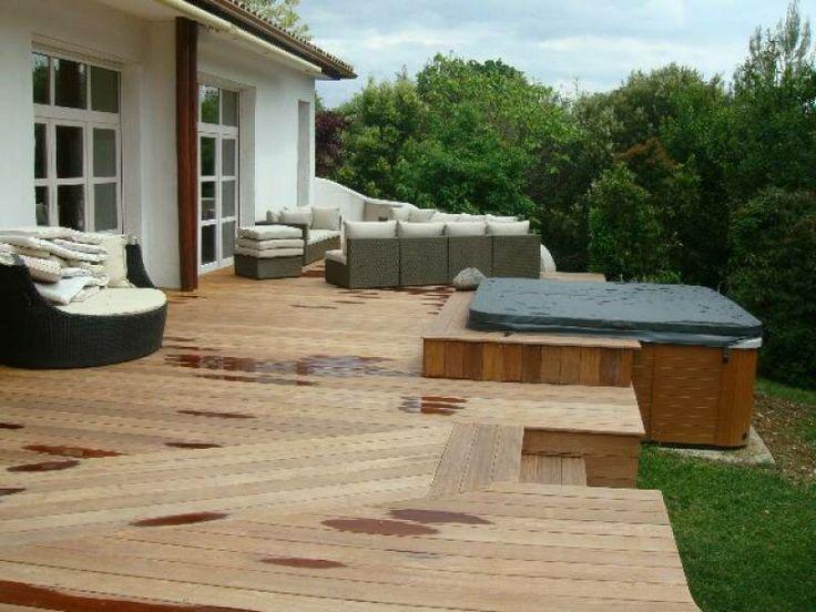 Terrasse en bois  Garden  Pinterest