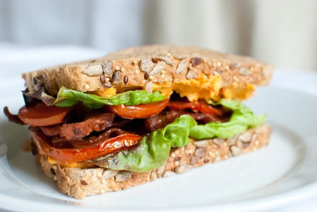 "PC BLT"" (add pimento cheese to your BLT, and roast tomatoes)"
