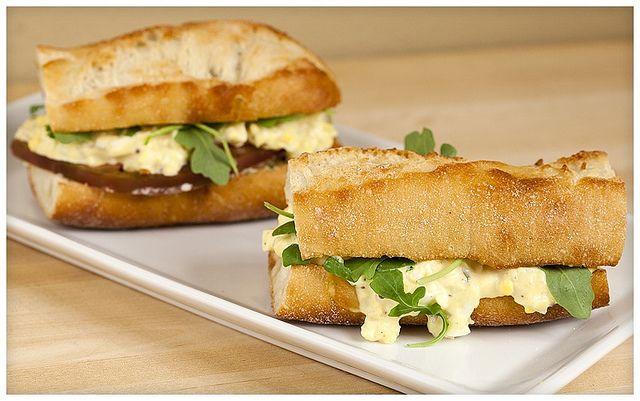 Tarragon Egg Salad Sandwiches with Homemade Lemon-Chive Mayo.
