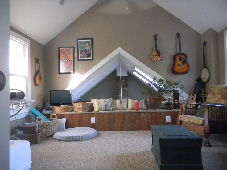 Loft Remodeled With Vaulted Ceiling My Old House Pinterest