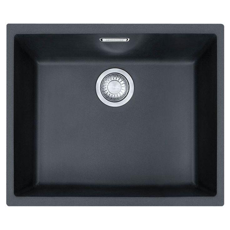 Tectonite Kitchen Sinks : Franke Tectonite Kitchen Sink SID110-50 Carbon Black - Masters Home ...