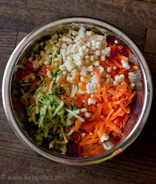 Zucchini, Corn and Carrot Fritters | Recipe