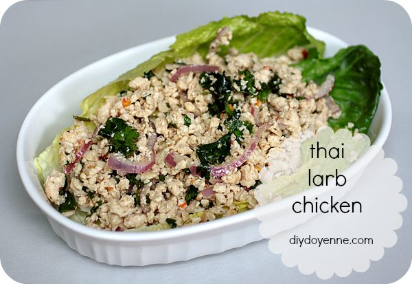 Thai Larb Chicken Recipe DIY Doyenne | Healthy eating | Pinterest