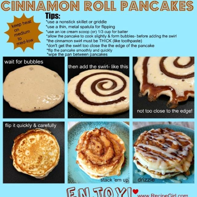 Cinnamon swirl pancakes!