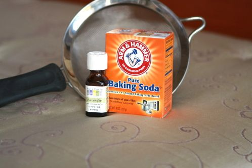 MATTRESS spring cleaning:pour about 1 cup of baking soda into a mason jar and drop in 4 drops of lavender essential oil.  Put on the lid and shake up the jar.Using a kitchen strainer sprinkle the baking soda mixture all over the mattress and let it sit.  I leave it for an hour or more, usually the time it takes for me to finish washing all the bedding and press the bed skirt.  Using the hose end of your vacuum and an upholstery attachment, thoroughly vacuum the mattress.  Bye, bye dust mites and other nasty things.  The baking soda helps draw up any moisture and deep dirtiness.  It deodorizes and leaves the mattress smelling fresh and clean.  I also love the faint scent of lavender left by the essential oil.