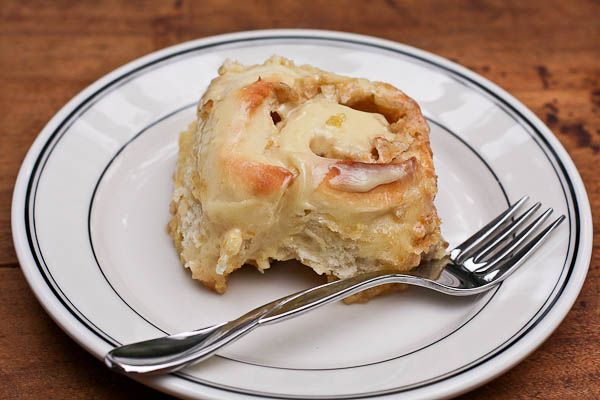 orange sweet rolls with cream cheese icing #recipe #breakfast
